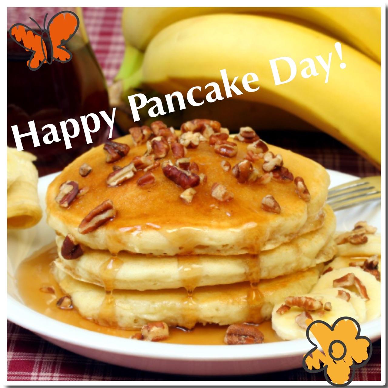 Healthy delicious banana pancakes